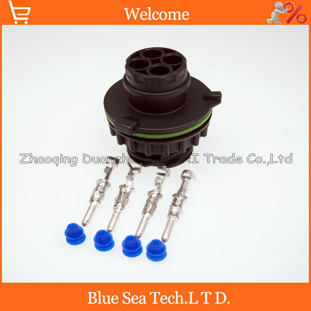 4 Pin AMP-1-967402-1 auto male sensor plug for car,oil exploration,railway etc,waterproof IP67/69,temp resistance