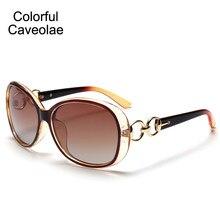 24699bb2b Colorido Caveolae Mulheres óculos de Sol Da Moda Popular Grande Quadro Mulher  Óculos de Sol Clássicos