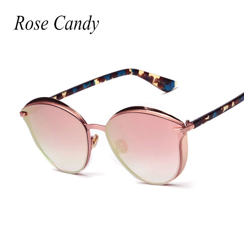 Rose Candy Super Popular Fashion Gothic Cat Eye Sunglasses Women Coating Stereo Sun Glasses Men Driving
