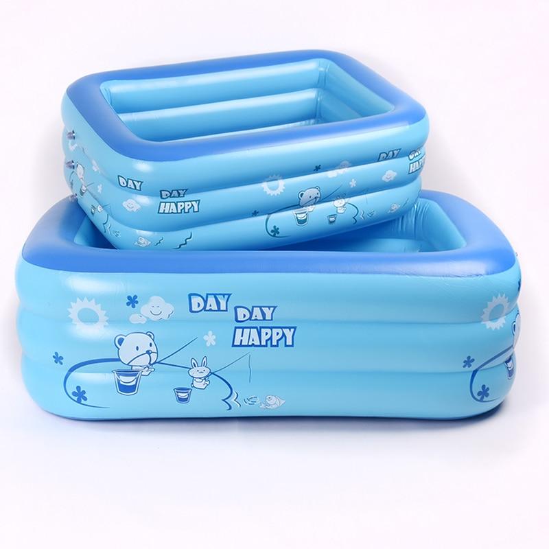 120 cm/130 cm/150 cm PVC ours Animal lettre gonflable carré en plastique bébé piscine enfants fournitures