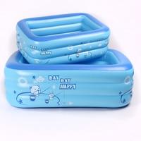 120cm/130cm/150cm PVC Bear Animal Letter Inflatable Square Plastic Baby Swimming Pool Kids Supplies