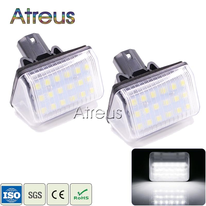 Osvětlení poznávací značky LED automobilu Atreus 12V pro Mazda 6 03- CX-5 14- CX-7 07- Příslušenství Bílá sada SMD LED Osvětlení poznávací značky