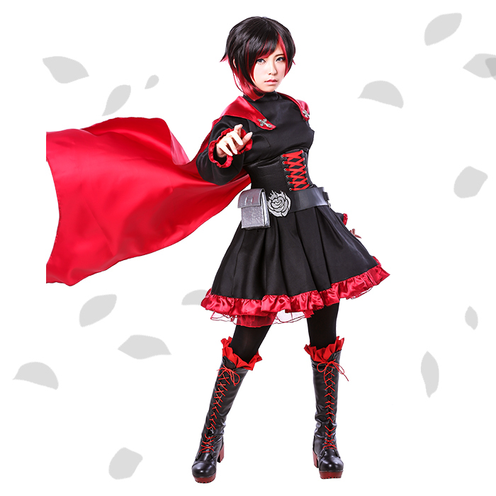 Fall Anime Wallpaper Vocaloid Aliexpress Com Buy Ruby Rose Cosplay Rwby Red Dress
