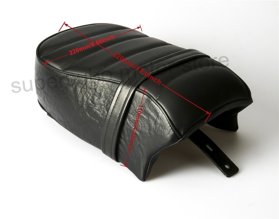 Motorcycle Rear Passenger Seat For Harley Sportster Iron XL883N Forty Eight 48 XL1200V 16-17 Black Leather for ktm 390 duke motorcycle leather pillon rear passenger seat orange color