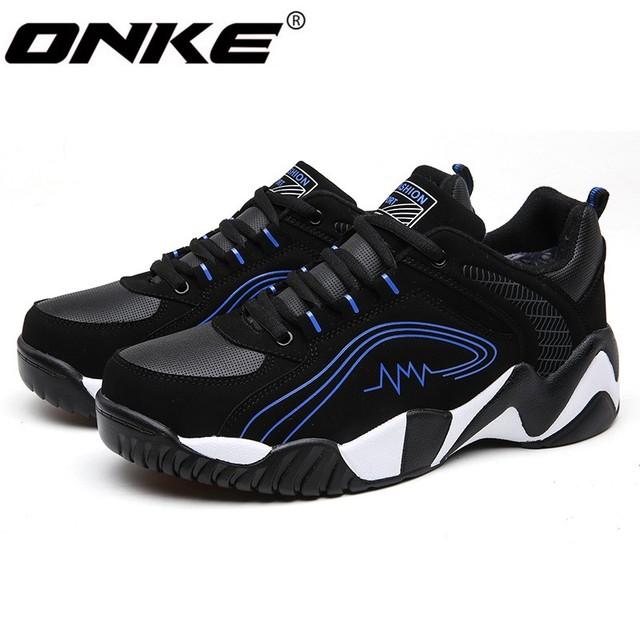 ONKE Nuevo anuncio ventas calientes de la marca de moda de Invierno, Además de terciopelo de los hombres zapatos casuales hombres zapatos Calientes jx0264