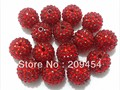 large size 20mm 100PCS Red Color Resin Rhinestone Beads , Rhinestone Beads ,Chunky Beads