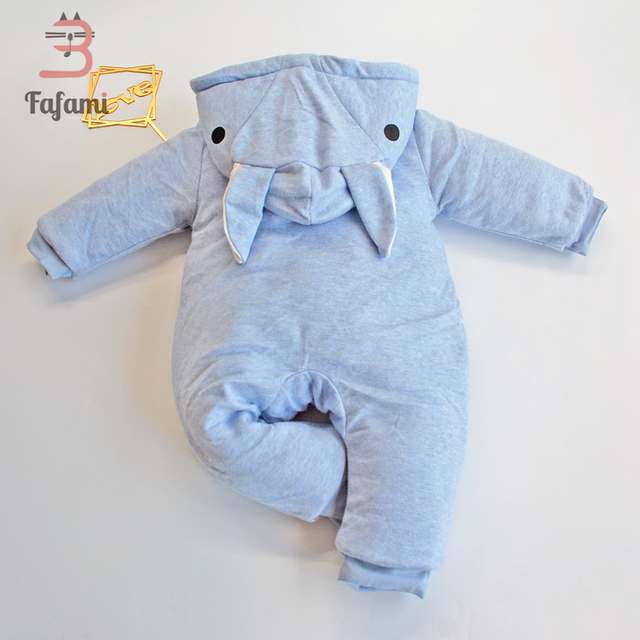 0b7bd6018 2018 Newborn Baby Rompers Thicken Cotton Winter Baby Boys Girls ...