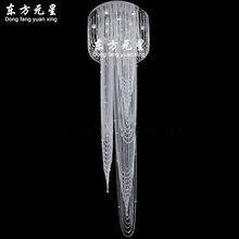 clear crystal chandelier light crystal bead hanging lamp rain drop LED flush mount staircase lighting fit 110-240V