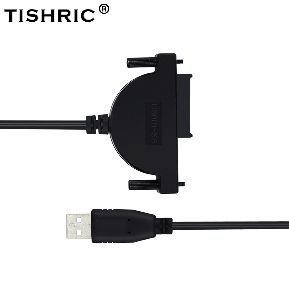 TISHRIC Mini Sata Molex 7+6 13pin to Usb 2.0 Adapter Converter Optical Drive Cable For Laptop CD/DVD ROM Hdd Ssd Hard Disk Case image