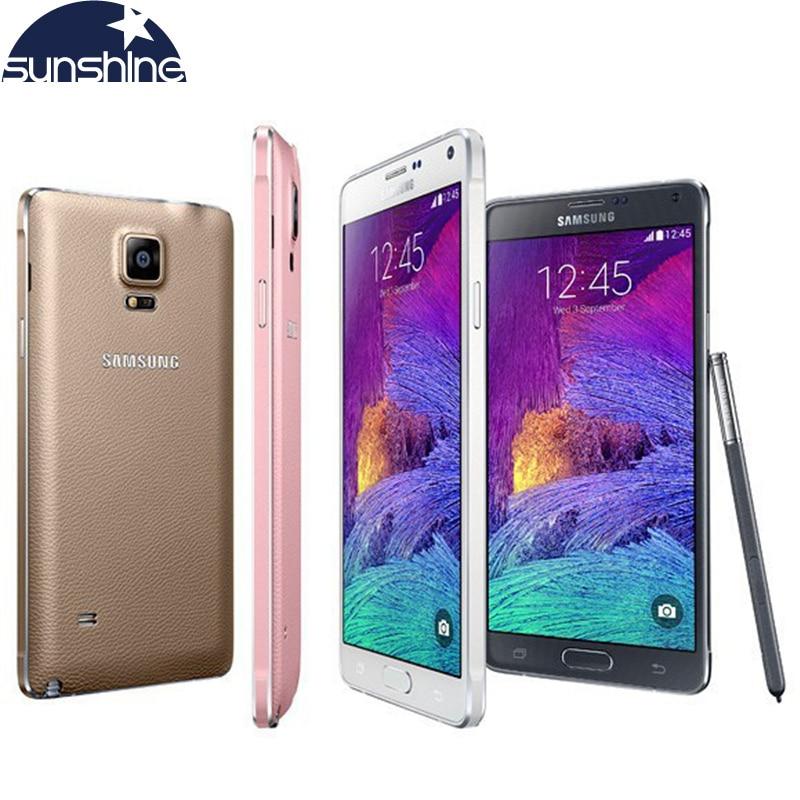 Desbloqueado Original Samsung Galaxy Note 4 N910 N9100 Telefone LTE 4G Móvel 16.0MP 5.7 3 GB RAM 16G/32 GB ROM NFC WI-FI do Smartphone