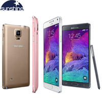 Original Unlocked Samsung Galaxy Note 4 N910 N9100 LTE 4G Mobile Phone 16 0MP 5 7