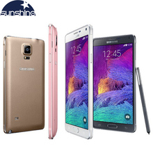 Original Unlocked Samsung Galaxy Note 4 N910 N9100 LTE 4G Mobile Phone 16.0MP 5.7″ 3GB RAM 16G/32GB ROM NFC WIFI Smartphone
