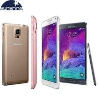 Originele Ontgrendeld Samsung Galaxy Note 4 N910 N9100 LTE 4G Mobiele Telefoon 16.0MP 5.7