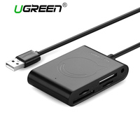 Ugreen All In 1 USB 2 0 Card Reader USB HUB With Cable High Speed Multi