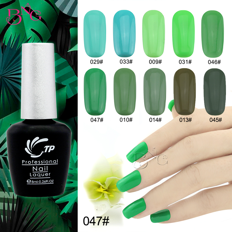 1pc Gel Polish Varnish UV LED Green Color Series UV Gel LED Lamp ...