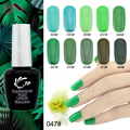 1pc Gel Polish Varnish UV LED Green Color Series UV Gel LED Lamp Nail Art Design Nail Gel Lacquer