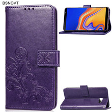 For Samsung Galaxy J4 Core Case Soft Silicone Leather Wallet Phone Bag Cover
