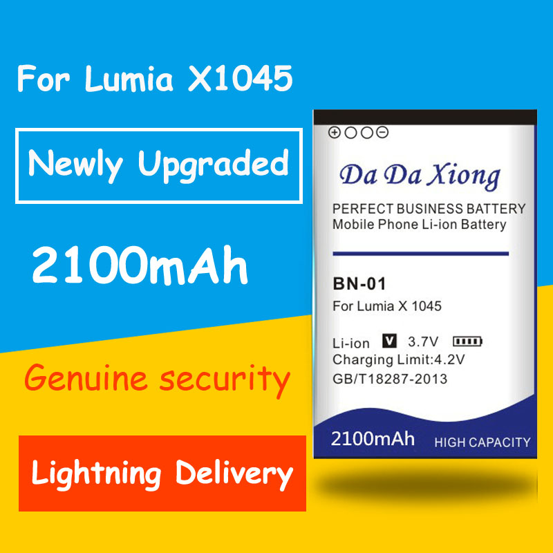 Genuine Security 2100mAh BN 01 BN-01 BN01 Li-ion Phone Battery for NOKIA X 1045 <font><b>RM</b></font>-980 Normandy / X2 X+ Plus <font><b>1013</b></font> X2DS phone image