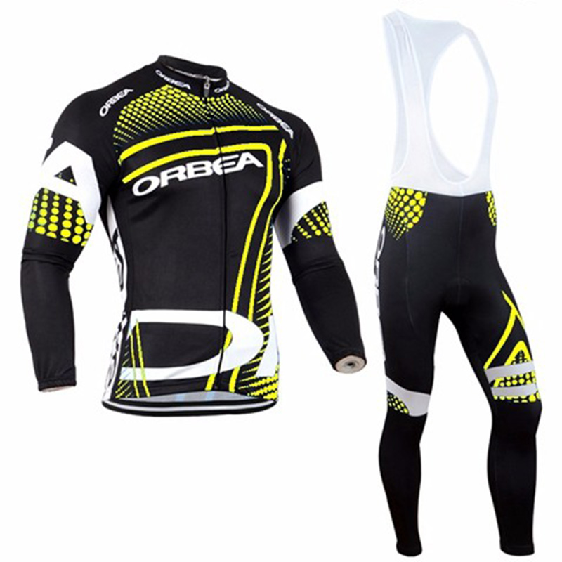 2016 Autumn Orbea GEL Breathable Pad Pro Team Long Clothing Bike Bicycle Long Sleeve Jersey Polyester Cycling Jersey bike Wear
