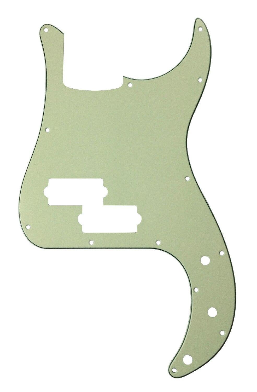 pleroo custom guitar parts for us p bass guitar pickguard scratch plate 3 ply mint green in. Black Bedroom Furniture Sets. Home Design Ideas