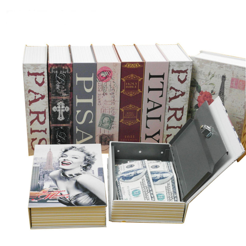 Password English dictionary safe box box color English dictionary book creative mini books deposit pot