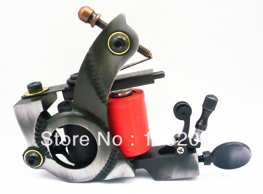 SALE Cutting Wire Iron Tattoo Machine Guns for Shadering or lining Dual 10-Wrap Coils Tattoo Machines Supplies Free Shipping  цены
