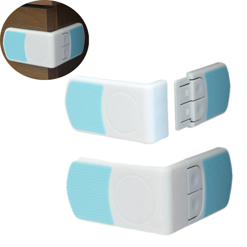 10pc/lot  Fashion Super Sticky External Appearance Drawer Refrigerator Lock Rectangular Double Snap Baby Child Safety Locks