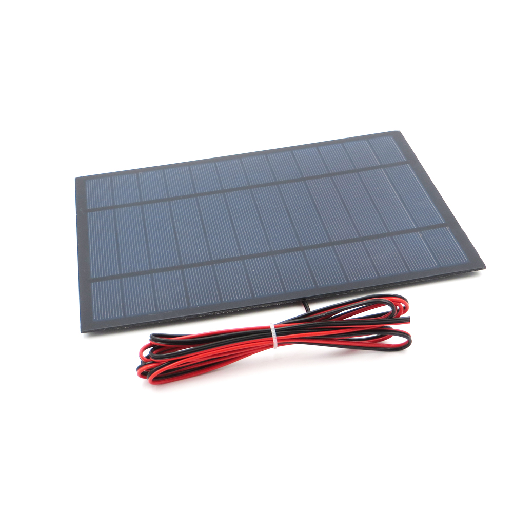1pc x 6V 6Watts with 200cm extend wire Solar Panel ...