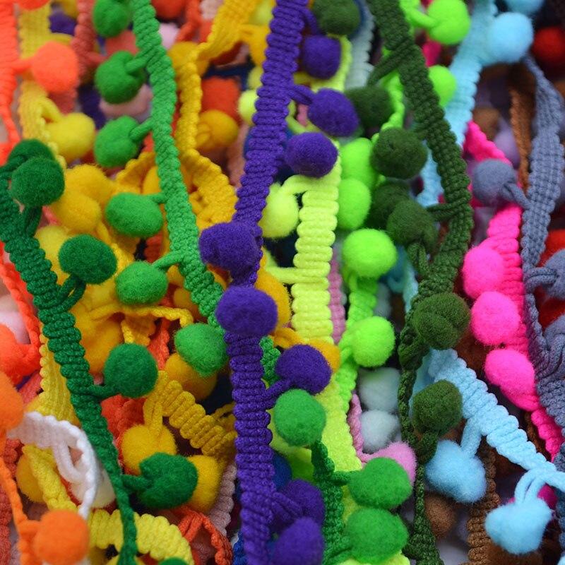 5 ярдов помпонами мяч бахромой лента 10 мм мини-жемчужина помпоном DIY Швейные кружевной Kintted ткани ручной работы судов свадебные украшения
