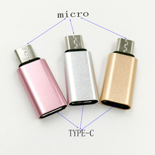 5pcs Type-C Female Connector to Micro USB 2.0 Male 3.1 Converter Data Android power Adapter Alloy Case converter connector
