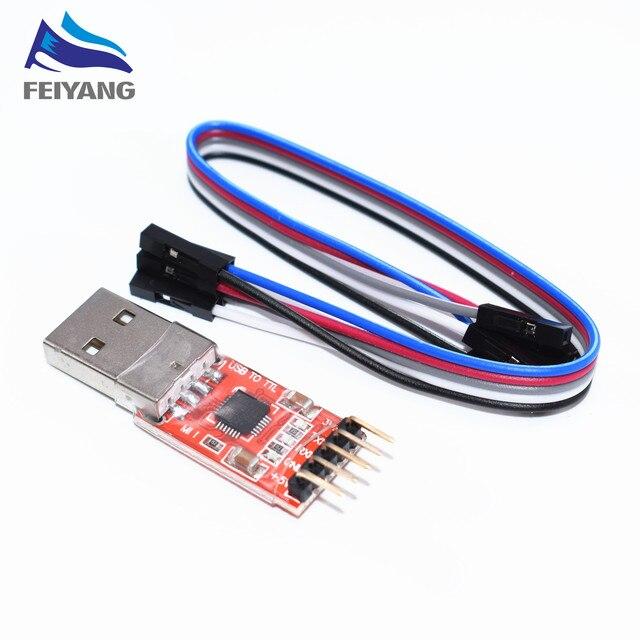 1 piezas SAMIORE ROBOT CP2102 Módulo de USB a UART serie TTL que STC cable de descarga PL2303 Super cepillo línea actualización (rojo)