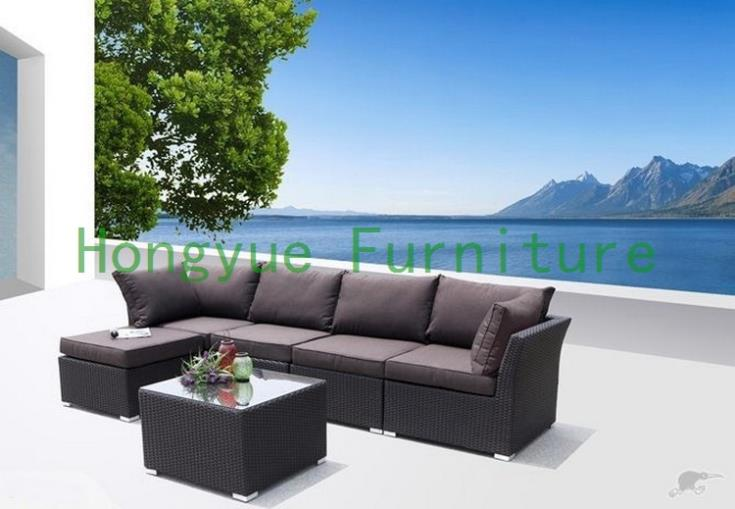 Modern new pe rattan sectional sofa furniture set