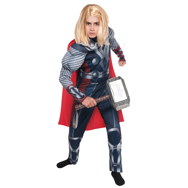 New Arrival Child Boys Superhero Muscle Thor Costume