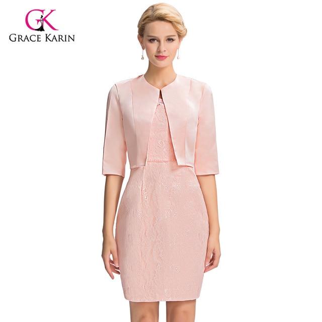 Grace Karin vestido de noche corto 2018 Rosa Vestidos para la madre ...