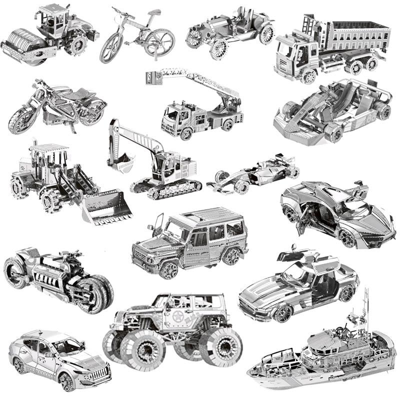 N 3D fém puzzle világ Építési autó modell Kid összeállítás - Puzzle játékszerek