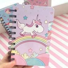 Cute Cartoon Unicorn Notebook
