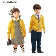 2016 New Design 4Pcs Children School Uniforms England Style Gentle Boys Spring Formal School Suit Girl School Dress Suit, C168