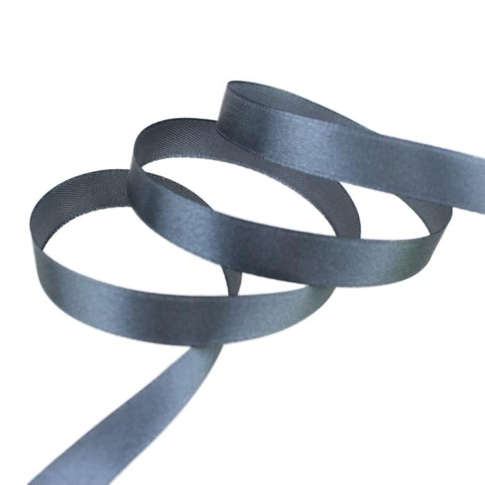 25 ярдов/рулон) атласная лента оптом, подарочная упаковка, рождественские украшения сделай сам, с лентой, с местом для рулон ткани(6/10/12/15/20/25/40 мм - Цвет: Темно-серый