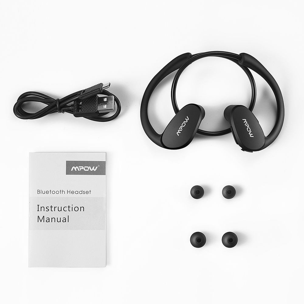 cc299df77e4 Mpow auriculares Bluetooth V4.1 Sweatproof Wireless deporte auriculares  Auriculares auriculares para correr gimnasio Smartphone llamadas de manos  libres en ...