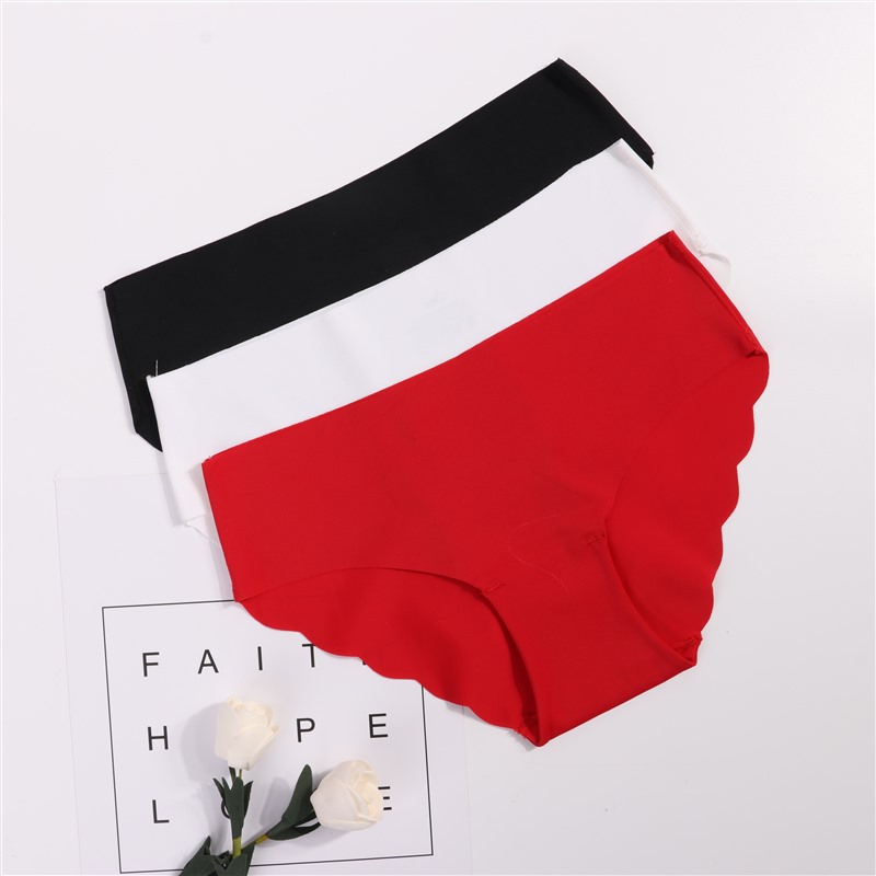 3Pcs/lot Seamless   Panty   Set Underwear Female Comfort Intimates Fashion Female Low-Rise Briefs 6 Colors Lingerie