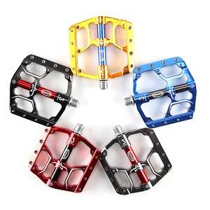 Image 2 - Pédales de vélo plates vtt route 3 roulements scellés pédales de vélo pédales de VTT plate forme large pédales Bicicleta accessoires partie