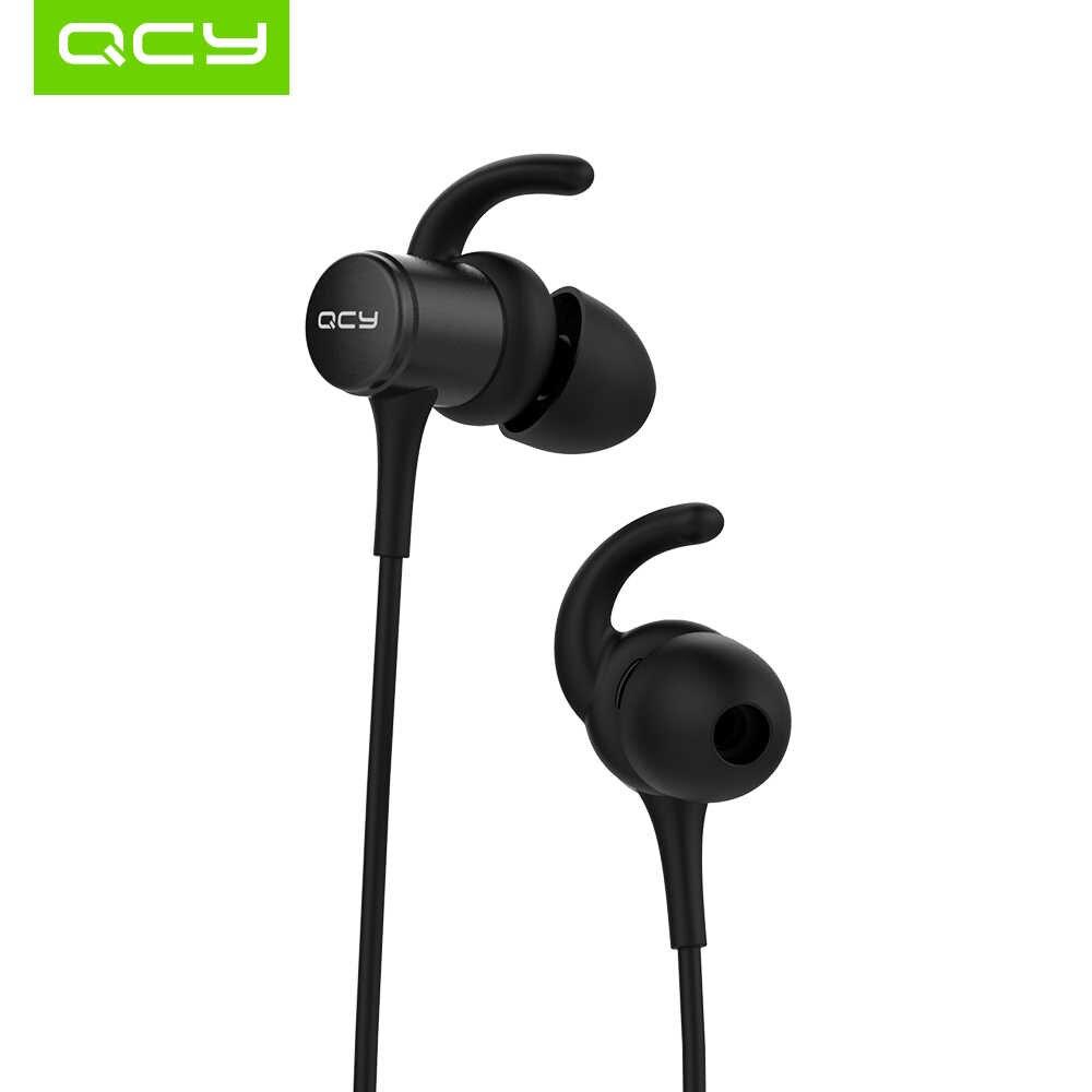 QCY M1s IPX5-Rated наушники с защитой от пота Bluetooth 4,2 Беспроводные спортивные наушники для бега умные магнитные наушники с микрофоном