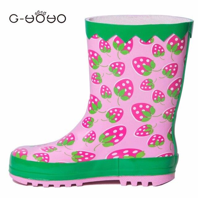 c806f2dcfb9d0d G-YOYO kinder Herbst Winter Baby Jungen Mädchen Kinder Jagged Grüne Farbe Gummi  Regen Stiefel