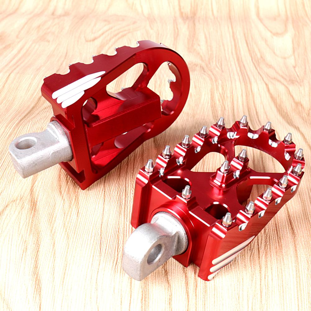 1Pair Red Rotating Footpegs Custom Chopper Foot Pegs For <font><b>Harley</b></font> Sportster XL <font><b>Iron</b></font> <font><b>883</b></font> Dyna Softail Models image