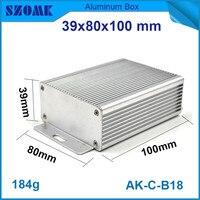 1 stück wand montiert aluminium schrank elektrischen kühlkörper schalter fall für led-steuerung 39*80*100mm