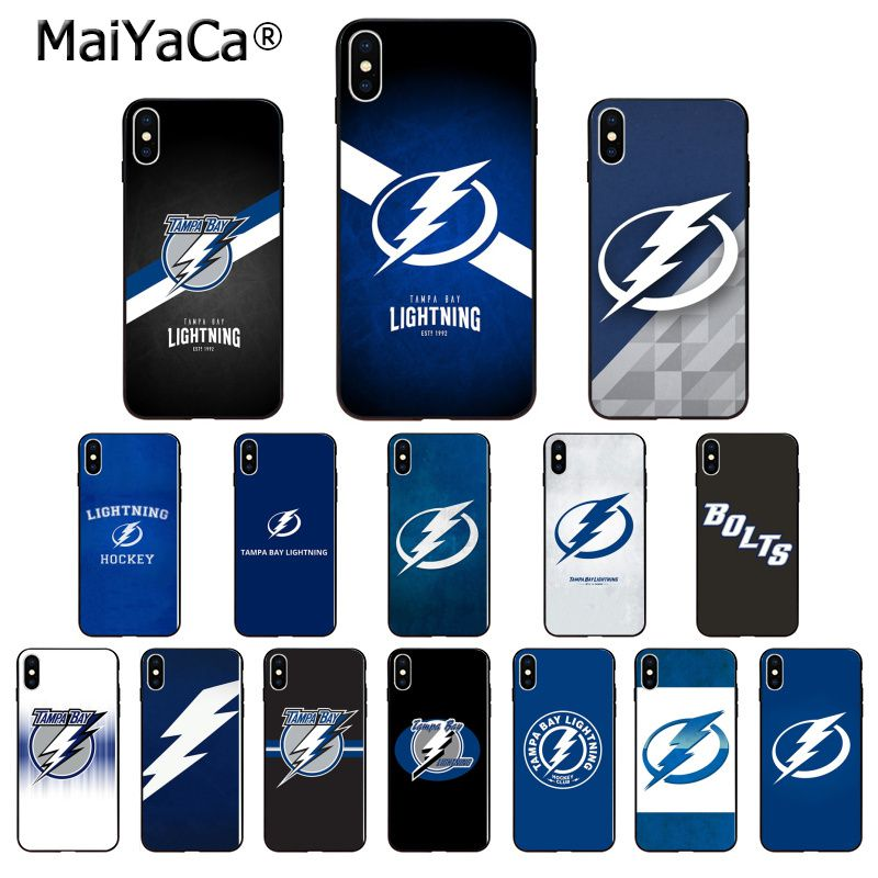 MaiYaCa Tampa Bay Lightning High Quality Phone Case for Apple iPhone 8 7 6 6S Plus X XS MAX 5 5S SE XR Mobile Cover image