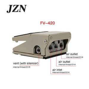Image 4 - 空気圧フットバルブフットスイッチ FV320 2 位置 4 またはを通じてファイブ FV420 シリンダー反転コントローラブローダストバルブ