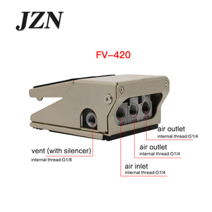 Image 4 - Pneumatic foot valve foot switch FV320 two position four or five through FV420 cylinder reversing controller blow dust valve