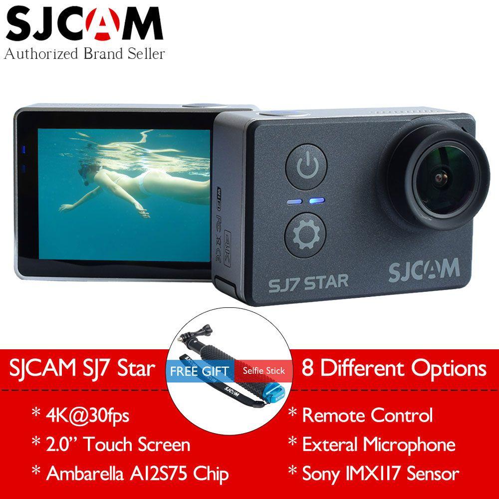 Original SJCAM SJ7 Star 4K 30fps Wifi Action Camera Gyro 2 0 Touch Screen Ambarella A12S75