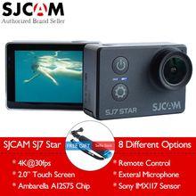 Ursprüngliche SJCAM SJ7 Stern 4 Karat 30fps Wifi Action Kamera Gyro 2,0 Touchscreen Ambarella A12S75 Ultra HD Wasserdichte Sport DV SJ Cam